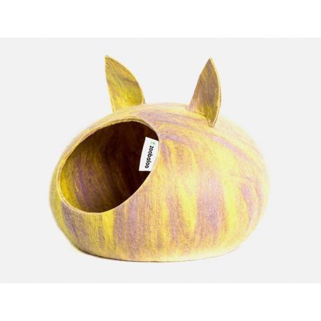 Домик для кошек Слипер с ушками WoolPetHouse, мультиколор желтый